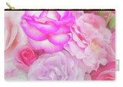 Painterly Tea Party With Fresh Garden Roses II Carry-all Pouch