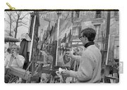 Painters In Montmartre, Paris, 1977 Carry-all Pouch