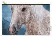 Painting Of A Brindle Horse With White Coat Carry-all Pouch