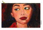 Painting Of A Dark Haired Girl Commissioned Art Carry-all Pouch