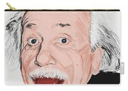Painting Of Albert Einstein Carry-all Pouch by Setsiri Silapasuwanchai