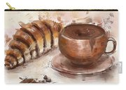 Painting Of Chocolate Delights, Pastry And Hot Cocoa Carry-all Pouch