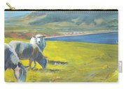 Painting Of Sheep On A Cliff Top Carry-all Pouch