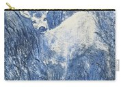 Painting Of Young Deer In Wild Landscape With High Grass. Graphic Effect. Carry-all Pouch