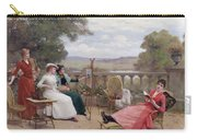 Painting On The Terrace Carry-all Pouch
