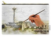 Painting Seattle Carry-all Pouch