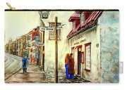 Paintings Of Quebec Landmarks Aux Anciens Canadiens Restaurant Rainy Morning October City Scene  Carry-all Pouch
