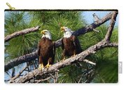 Pair Of American Bald Eagle Carry-all Pouch