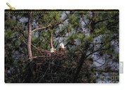 Pair Of Bald Eagles In Nest Carry-all Pouch