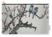 Pair Of Birds On A Cherry Branch Carry-all Pouch