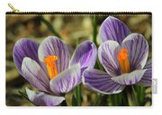 Pair Of Blooming Crocuses Carry-all Pouch