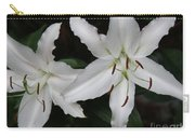 Pair Of Flowering White Stargazer Lilies In Bloom Carry-all Pouch