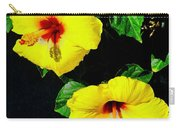 Pair Of Golden Hibiscus In Morning Sun Carry-all Pouch