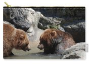 Pair Of Grizzly Bears Wading In A Shallow River Carry-all Pouch