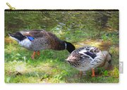 Pair Of Mallard Duck 7 Carry-all Pouch