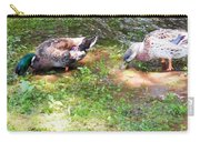 Pair Of Mallard Duck 8 Carry-all Pouch