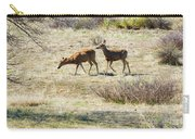 Pair Of Mule Deer Grazing At Chatfield Carry-all Pouch