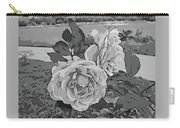 Pair Of Roses In Grayscale Carry-all Pouch