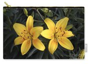 Pair Of Yellow Lilies Carry-all Pouch
