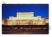 Palace Of Parliament At Night Carry-all Pouch