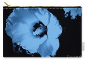 Pale Blue Tinge Hibiscus Flower Carry-all Pouch