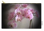 Pale Pink Orchids B W And Pink Carry-all Pouch