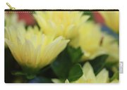 Pale Soft And Yellow Flower Abstract At Sunset Carry-all Pouch