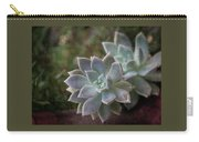 Pale Succulent On Artistic Background, Macro Carry-all Pouch