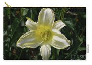 Pale Yellow Flowering Lily Blossom In A Garden Carry-all Pouch