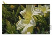 Pale Yellow Lily In A Garden Of Daylilies Carry-all Pouch