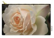 Pale Yellow Rose After The Rain - Glow Carry-all Pouch