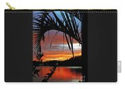 Palm Framed Sunset Carry-all Pouch