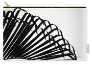 Palm Frond Black And White Carry-all Pouch