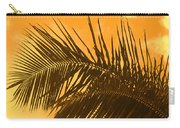 Palm Frond Sunset Carry-all Pouch