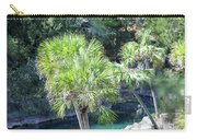 Palm Tree Blue Pond Carry-all Pouch by Raphael Lopez