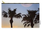 Palm Tree Full Moon Sunset Carry-all Pouch