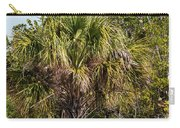 Palm Tree In Golden Grass Carry-all Pouch