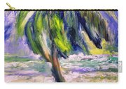 Palm Tree On Windy Beach Carry-all Pouch