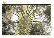 Palm Tree Pen And Ink Grayscale With Sepia Tones Carry-all Pouch