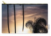 Palm Tree Sunset Silhouette Carry-all Pouch