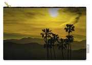 Palm Trees At Sunset With Mountains In California Carry-all Pouch