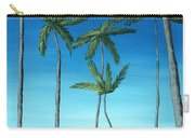 Palm Trees On Blue Carry-all Pouch