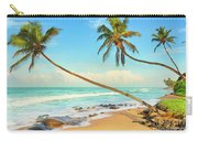 Palm Trees Over The Sea Carry-all Pouch
