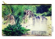 Palmetto And Head Stone Carry-all Pouch