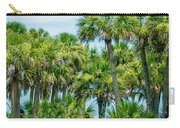 Palmetto Palm Trees In Sub Tropical Climate Of Usa Carry-all Pouch