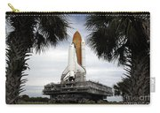 Palmetto Trees Frame Space Shuttle Carry-all Pouch by Stocktrek Images