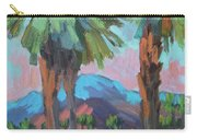 Palms And Coral Mountain Carry-all Pouch