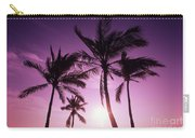 Palms And Pink Sunset Carry-all Pouch