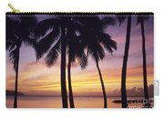 Palms And Sunset Sky Carry-all Pouch