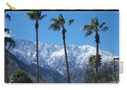 Palms With Snow Carry-all Pouch